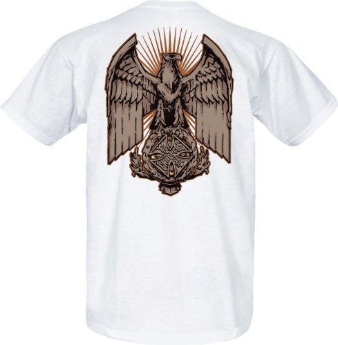 WCC West Coast Choppers T-Shirt Eagle Chest weiss-S