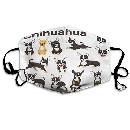 PatrickOgden Beliebte Mundschutz für Küche Joggen Chihuahua Hund Action Happy Dog Chihuahua Hund posiert Sport Covers