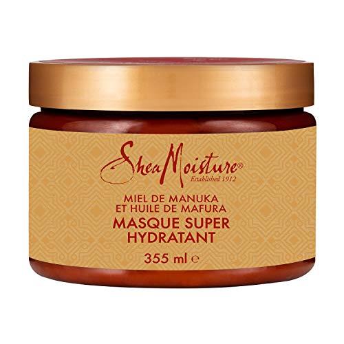 Shea Moisture Masque Hydratation Intense pour cheveux secs et abîmés au Miel de Manuka et huile de Mafura pour adoucir les cheveux 355ml