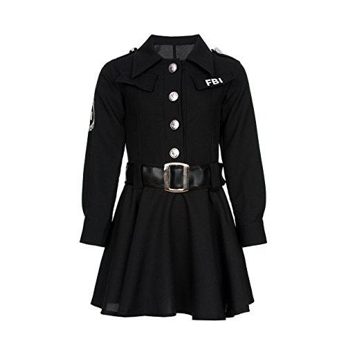 Kostümplanet® FBI Agent Polizei-Kostüm Mädchen Kinder Kostüm Polizistin Größe 152