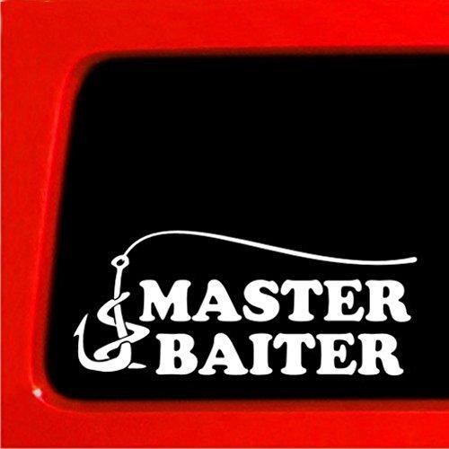 Fishing Master Baiter Sticker - Funny Joke Prank Decal Fish Hunting Bumper Sticker Vinyl | 7 X 3 in | CCI168