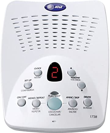 AT&T 1738 40-Minute Digital Answering System with Time/Day Stamp