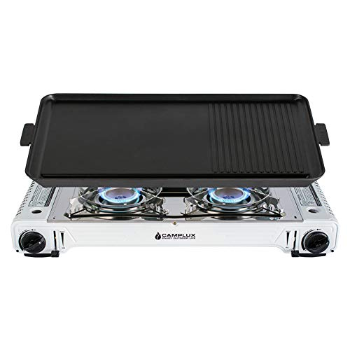 Camplux Twin Burner Portable Camping Butane Gas Stove