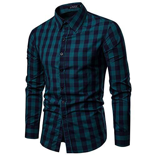 Tefamore-Hommes Automne Hiver Nouveau Style Hommes Chemises à Manches Longues Occasionnels Mode Chemisier à la Mode