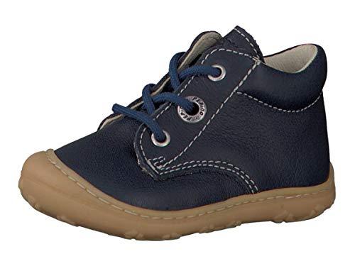 RICOSTA Pepino Unisex - Kinder Stiefel Cory, WMS: Mittel, leger Boots schnürstiefel Leder Kind-er Kids junior Kleinkind-er,Nautic,19 EU / 3 UK