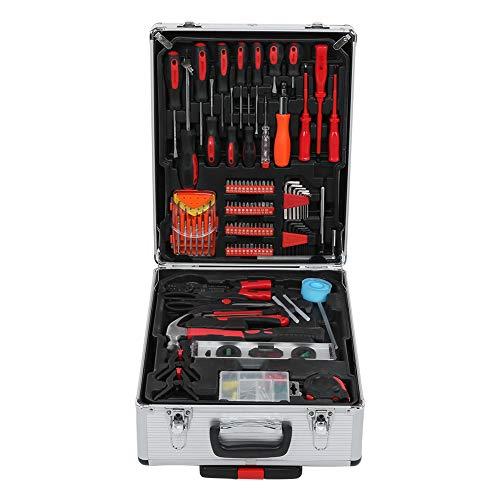 Werkzeugkoffer, 186-teiliges Werkzeug Set Mit Rollendem Werkzeugkasten, Werkzeug-Trolley, Haushaltszange Schraubenschlüssel Hardware Reparatur Schraubendreher Kit