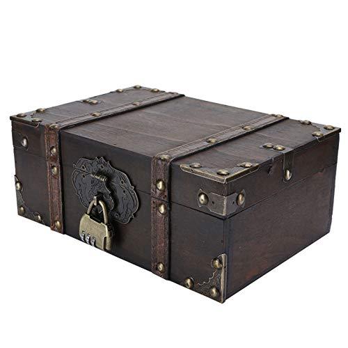 Caja de almacenamiento de madera estilo vintage, para decoración del hogar(#1)