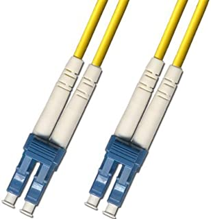 1 Meter Singlemode Duplex Fiber Optic Cable (9/125) - LC to LC - Yellow