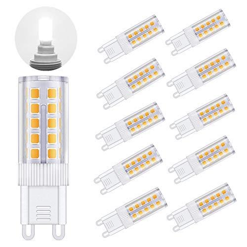 TOSHIN G9 LED Lampen, 3W LED Leuchtmittel Birne, Ersetzt 30W Halogenlampen, 300 Lumen, AC 220-240V, 360° Abstrahlwinkel, Kaltweiß, 10er Pack