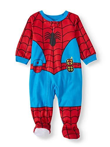Marvel Baby Boys' Spiderman Blanket Sleeper Pajamas (9 Months) Blue