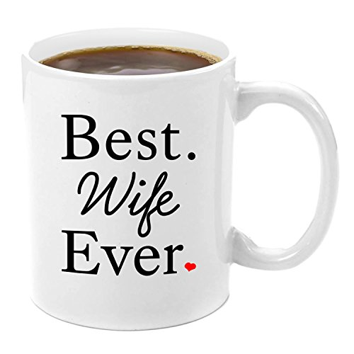 Best Wife Ever | Premium 11oz Coffee Mug Set - Wife Gifts, Birthday Gift Ideas, Christmas, Best Wife, Wifely Gifts, Romantic, Wife 50th Birthday Gift Ideas, xmas Gifts, From Husband, Anniversary