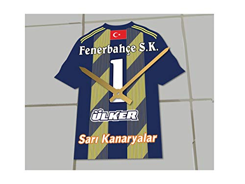 MyShirt123 Fenerbahce FC Football Club–Fußball Shirt Uhr–Name & jeder Zahl–Sie wählen.