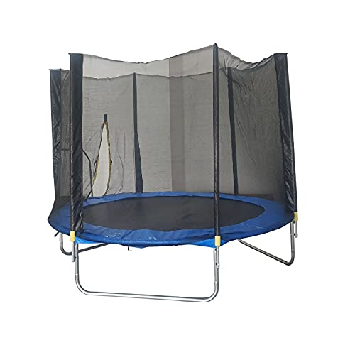 Fit4home Trampoline 10ft with Safety Net Enclosure and Ladder Outdoor Garden Fitness and Exercise for Adults and Children Fun Outdoor Activities | 10FTRND