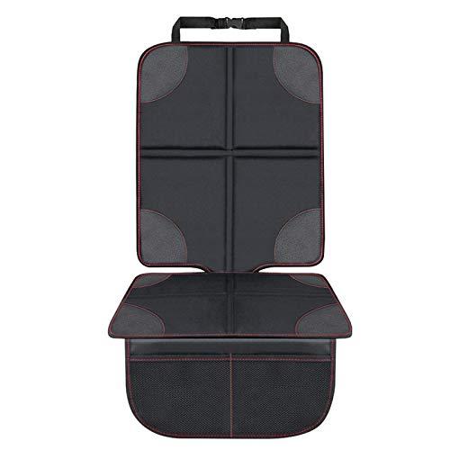 Autositzauflage Kindersitzunterlage, laxikoo Wasserabweisend Autositzschoner mit Netztasche Auto-Kindersitzunterlage ISOFIX Geeignet Kindersitz Schutzunterlage für Universale Autos