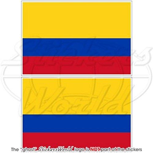 Colombie Drapeau Colombie Amérique du Sud 7,6 cm (75 mm) en vinyle Bumper Stickers, Stickers x2