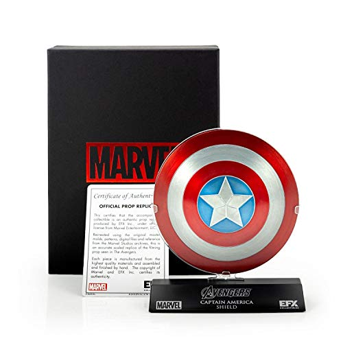 Marvel Collectibles The Avengers Captain America Die Cast Shield Replica, 1:6 Scale (4-Inch Diameter)
