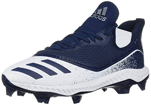 adidas Men's Icon V Bounce TPU Cleats Baseball Shoe, FTWR White/Collegiate Navy/Collegiate Navy, 9.5 M US