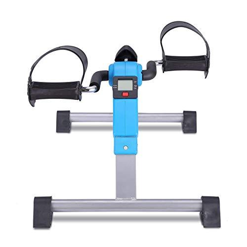 SISHUINIANHUA Mini Faltbare Heimtrainer Fahrrad-Maschine Sitz Exerciser für Arm- und Bein Under Desk