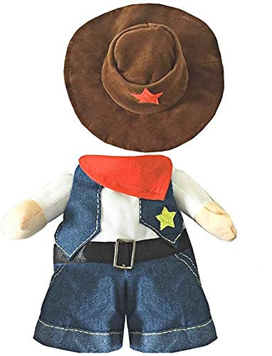 Mikayoo Pet Dog Cat Halloween Costumes,The Cowboy Party Christmas Special Events Costume,West Cowboy Uniform Hat,Funny Pet Cowboy Outfit Clothing Dog cat