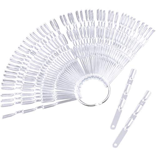 100 Stück Nagel Präsentation Farbfelder, Falsche Nagel-kunst Sticks, Nagellack Farbe Karte Platten Transparent Nagelspitzen für Praxis
