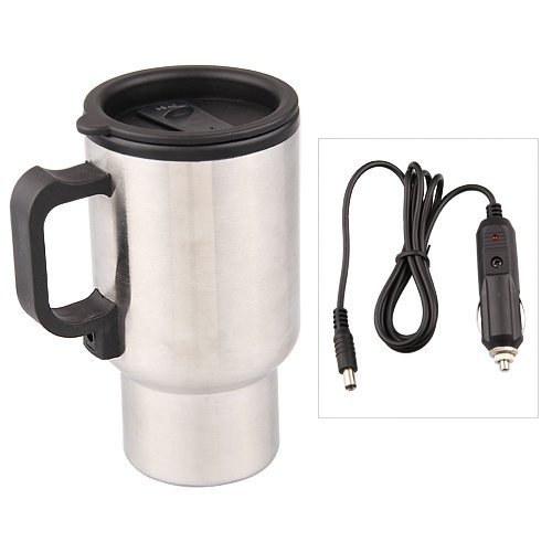 12V Termo Taza Electrico Calentador pa Cafe Mechero Coche Viaje