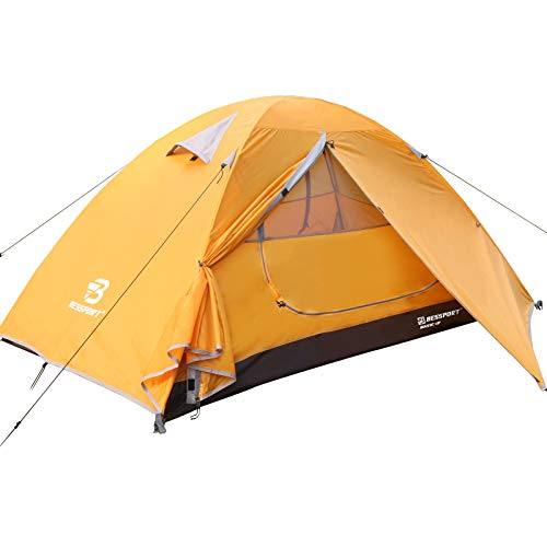 Bessport Backpacking Tent 1-2Person Ultralight Camping Tent Waterproof Two Doors Tent Instant...