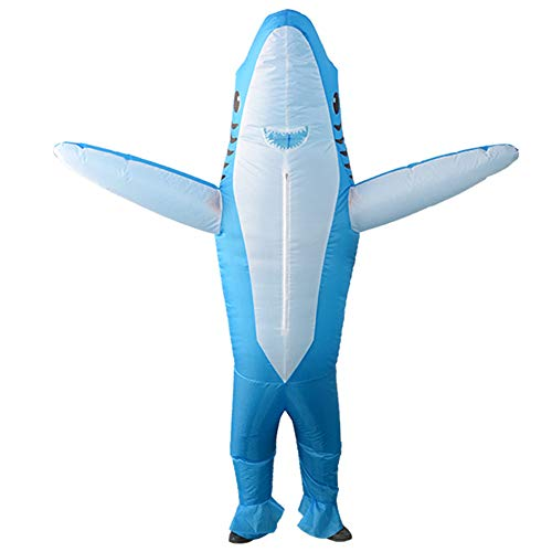 Takefuns Aufblasbares Kostüm, Hai-Kostüm, Halloween-Jumpsuit, Cosplay-Outfit, Geschenk für Kinder, lustiger Ganzkörperanzug, Partyspielzeug für Weihnachten