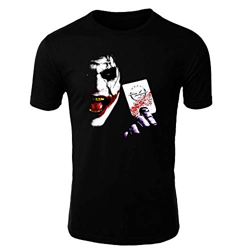 OPEL Joker 2 T-Shirt Logo Clipart Herren CAR Auto Tee TOP SCHWARZ Short Long Sleeves Present Christmas (4XL, Schwarz - KURZ)