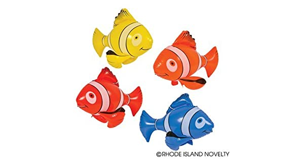 4 Colorful Inflatable Clownfish 24 Nemo RINCO SG/_B00G03CKPE/_US Decoration Clown Fish Party Favor