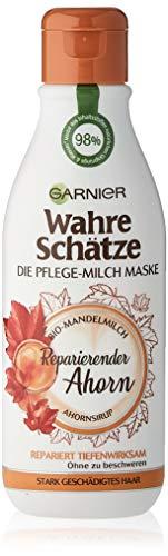 Garnier Wahre Schätze Pflege-Milch Maske Reparierender Ahorn, 1er Pack (1 x 250 ml)