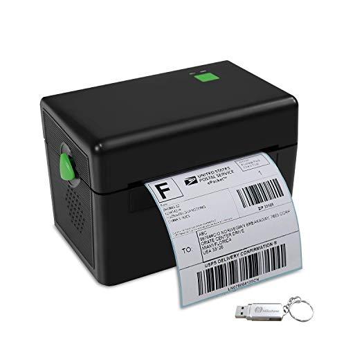 Etikettendrucker Etikettenmaschiene Handelsklasse Direkter Thermischer Versandetikettendrucker für DHL UPS FedEx Amazon - 4XL Etikettendrucker - Thermischer drucker für PC/Mac