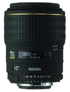 Sigma 105mm F2,8 EX DG Makro Objektiv (58mm Filtergewinde) für Nikon