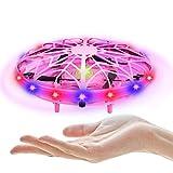 UTTORA Mini Drone UFO,Flying Ball Juguete para Niños Recargable UFO Drone Movimiento Control A Mano...