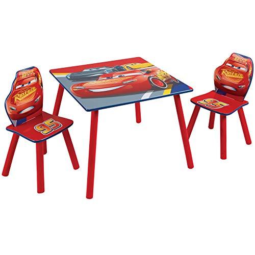 Disney Cars Set aus Tisch und 2 Stühlen für Kinder, One Size