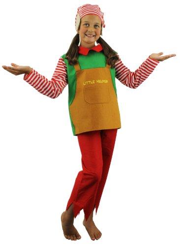 Kinder Elf Kostüm, Kids 3-teilig Santas Little Helper Outfit Top + Hose + Elf Hat mit Ohren Kleine Erwachsene