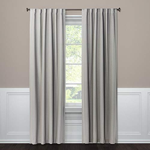 threshold Blackout Curtain Panel Aruba Gray Stone