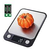 Homlynn Básculas De Cocina Digitales, 10 kg / 22 LB Básculas Electrónicas Alimentos Multifuncional, Precisión en ml/oz/LB/Gramo, Pantalla LCD, Control Táctil