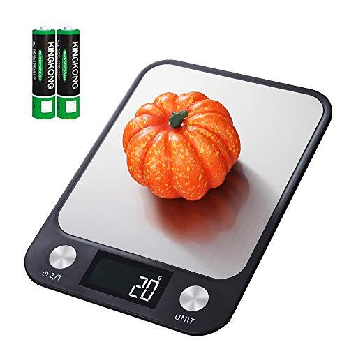 Homlynn Digitale Küchenwaage,10kg/22lb Electronic Food Scales Zum Wiegen Kochen Backen Edelstahl Messwaage Präzision in ml/oz/lb/Gram, LCD Display, Touch Control