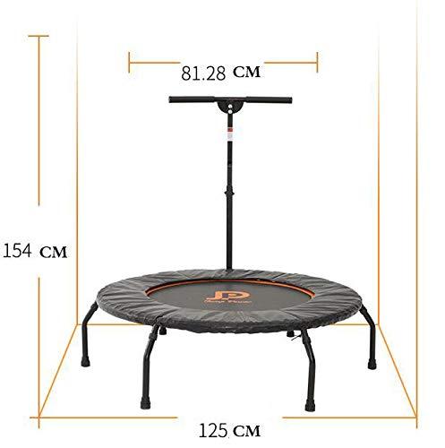 WLWLEO Esercizio Home Rebounder trampoline, elastische trampoline, super rustig met verstelbare leuning, voor volwassenen en kinderen