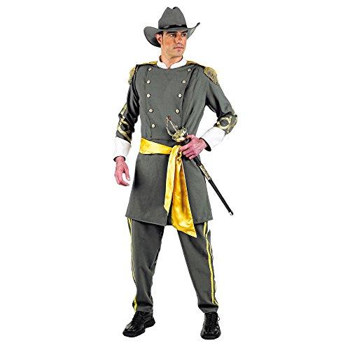 Elbenwald Batman–Kostüm Südstaaten–Kostüm für Karneval oder Mottoparty–Uniform mit Jacke, Hose, Hut und Gürtel–L