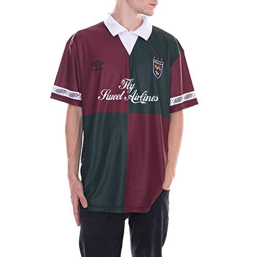SWEET SKTBS - T-Shirt - Sweet X Umbro Team Football Jersey - Bordeaux/Verde (M)