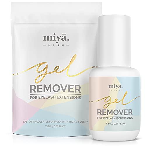 MIYA LASH Eyelash Extension Remover Gel 15ml   Quickly Dissolves Strong Eyelash Glue in 2 MINS   Remover for Lash Extensions   Professional Eyelash Glue Remover Gel