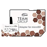 Team microSDXCカード 512GB 高速転送UHS-1 日本国内10年保証 SD変換アダプター付属 正規品