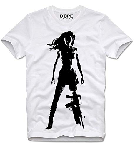 DOPEHOUSE T-Shirt Planet Terror Death Proof Stuntman Mike Tarantino Grindhouse Cult Kultfilm Rodriguez Movie S White