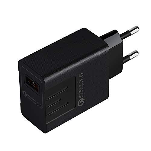 HSKB USB Ladegerät Schnelles Ladeadapter Desktop Ladestation Dockingstation Charge Reiseadapter mit iSmart Technologie Netzteile Smart Lade für iPhone für Samsung Galaxy MP3 usw EU-Stecker (Schwarz)