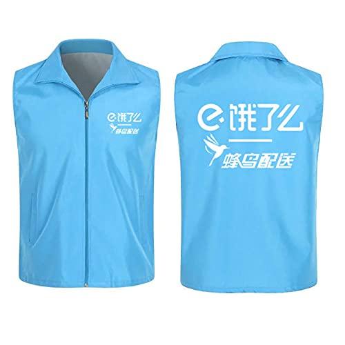 YDHZ Camiseta de colibrí, Sudadera, Moda de Verano de Manga Corta, con Tiras Reflectantes de la Noche, Efecto Impermeable y Aislante al Calor Blue-L