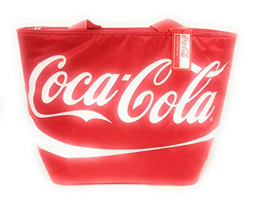 Coca Cola Large Shoulder Tote Cooler Bag with Staps and Official Coke Logo