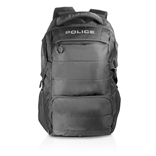 Police Hedge Polyester 30 Ltr Black Laptop Stylish Premium Quality Backpack
