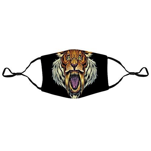 Sciarpa per il viso Sabretooth Tiger Mascotte Adolescenti con 2 Filtri Anime Riutilizzabile...
