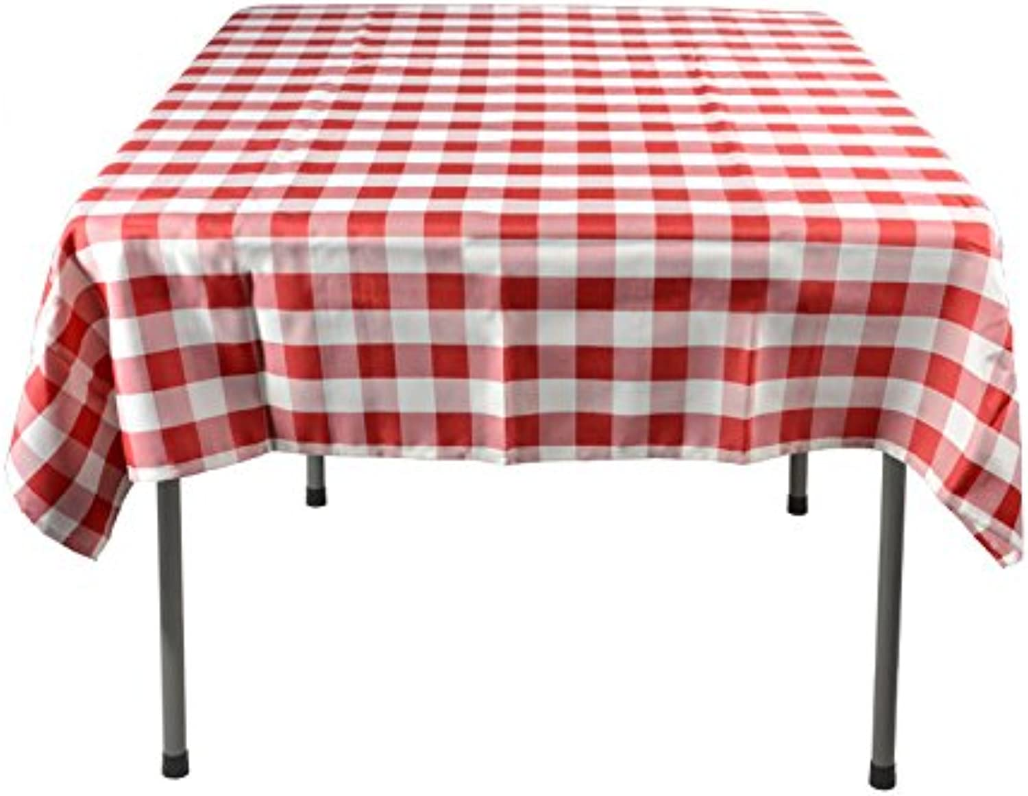 Displays2go Square Table Covers, 54Inch, Red
